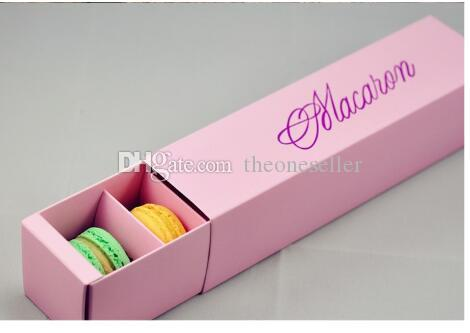 home made macaron black blue green macaron box biscuit Muffin box DHL