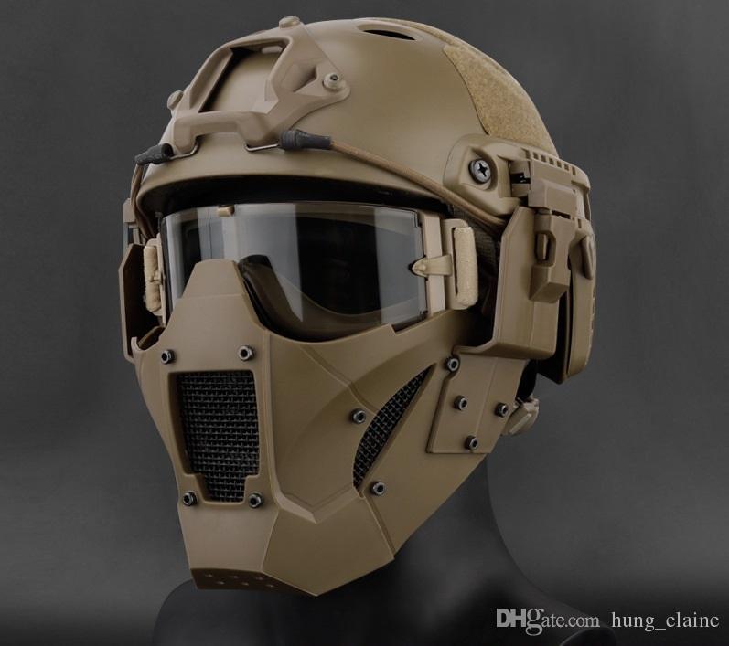 Airsoft AR15 taktischen Paintball-Zubehör Jagdschutz Männer halbes Gesicht JAY FAST MASK für AF Helm für die Jagd