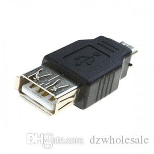Hot And Cheap USB 2.0 A Female to MICRO USB 5 Pin male Fm Converter cable Adapter /