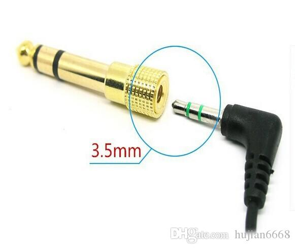 """/6.5mm 1/4"""" Male to 3.5mm Female Audio Adapter jack Stereo / Converter Cable for Microphone gold 10Qty"""