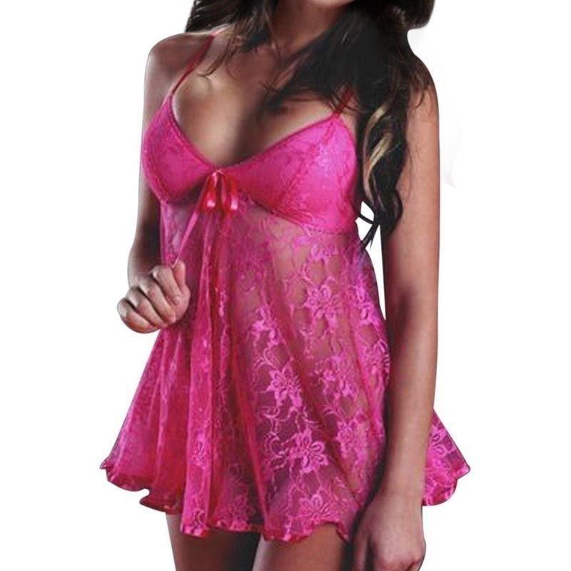 1 adet Erotik Moda Bodydoll Bayanlar iç çamaşırı Bayanlar Ipeksi Pijama Pijama Gecelik Seksi Kostümleri Samimi Aksesuarları