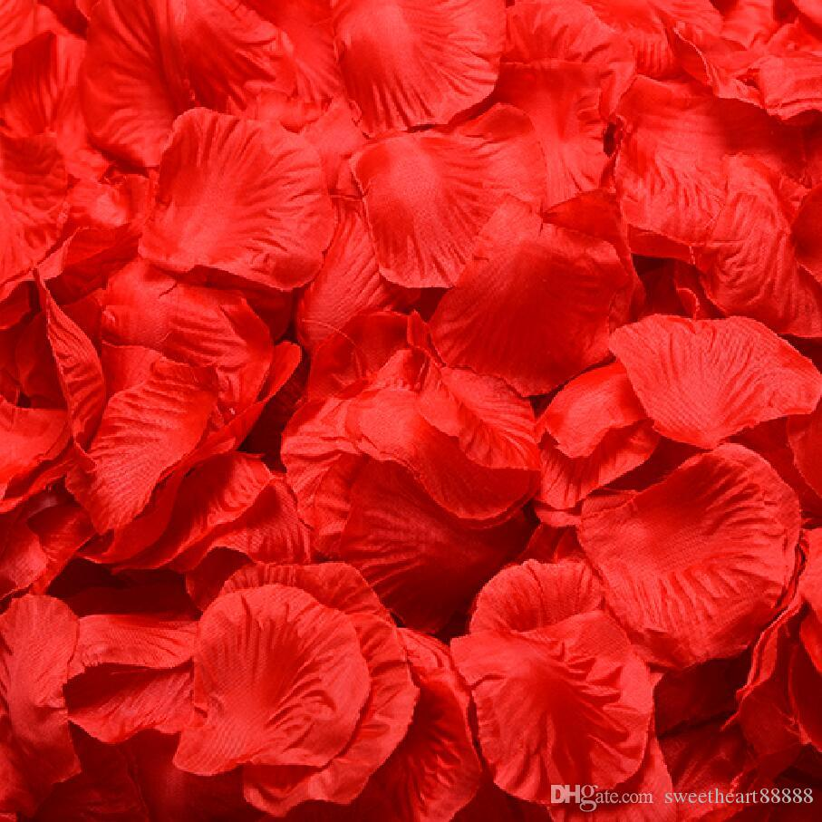 Hot MIC 4000Pcs Red Silk Rose Petals Wedding Flowers Favors Decoration Jewelry DIY Hot sell 40colors
