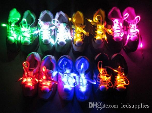 Moda LED Ayakabı 110 cm Ayakkabı Danteller Flaş Light Up Glow Stick Askı Düz Ayakabı Disko Parti Ayakkabı Aksesuarları 10 adet /