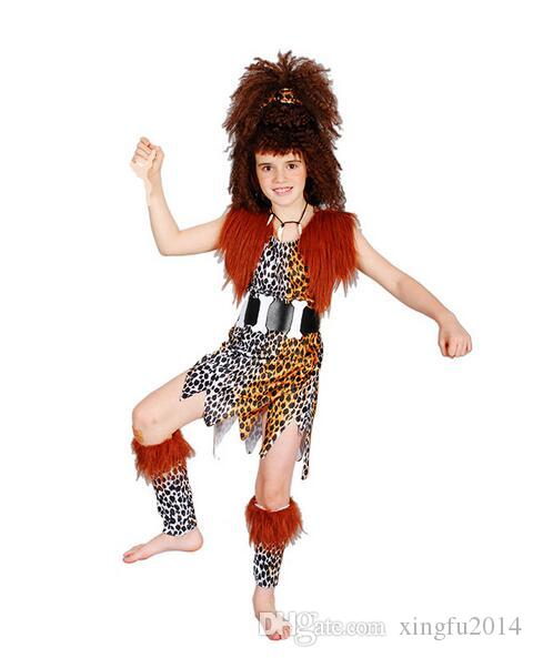 halloween cosplay make up dancing clothes african savage native american indian costumes childrens girl models indigenous team halloween costumes office - Halloween Native American
