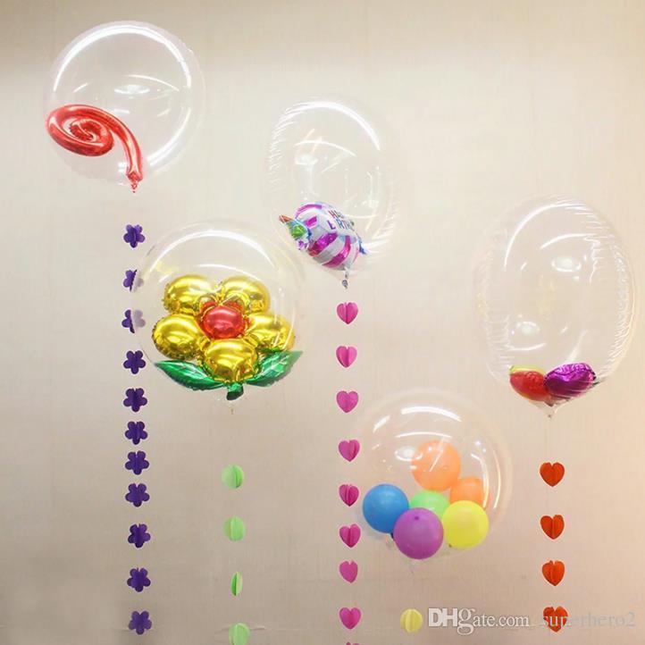 36 pollici bolla bolla chiara palloncini da sposa Natale compleanno stag hen decorazioni feste trasparenti palloncini festivi eventi decorazioni