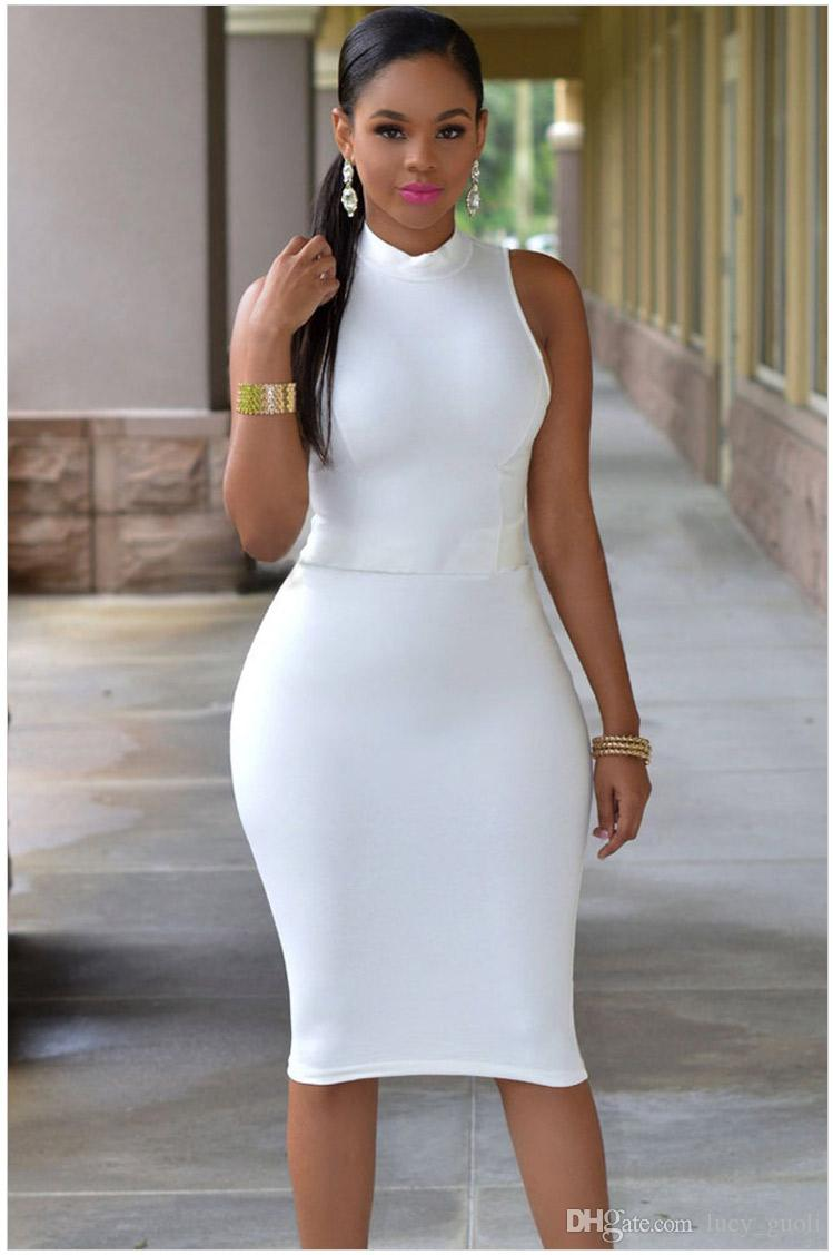 Femmes Sexy Robes Fête Night Night Club Robe 2016 Bullcon Soirée Party Plus Taille Femme Vêtements Robe Femme Vestidos Nouvelle robe noire blanche