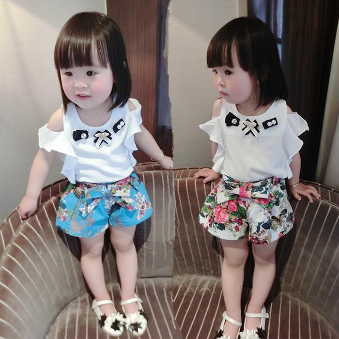 2018 Baby Girl Summer Clothing Sets 0 1 2 3 Years Old Girls Summer T