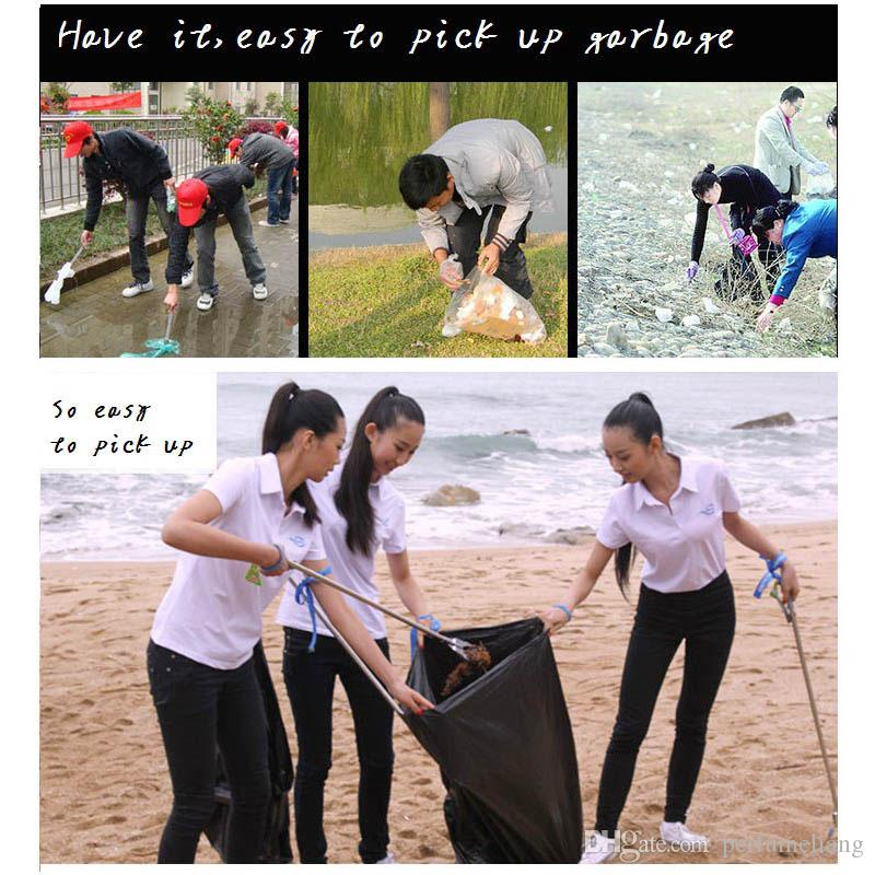 New Arrival Stainless Steel Fetch Pick Up Garbage Long Reach Helping Hand Arm Extension Tool Trash Can Cleaning Cleaner ZA0872