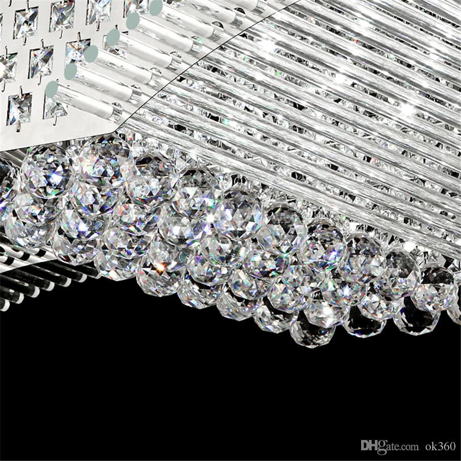 Moda moderna K9 de cristal de la lámpara LED de techo mirs las alas de la lámpara de la sala Luces pendientes accesorio de iluminación de LED