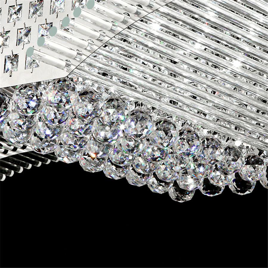 Mode moderne K9 cristal LED lampe de plafond Lustre Mirs ailes Salon LED lampes suspendues d'appareils d'éclairage