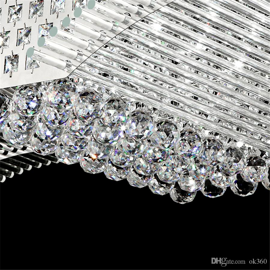 Modern Fashion K9 Crystal LED Ceiling Lamp Mirs Wings Chandelier Living Room LED Pendant Lights Lighting Fixture