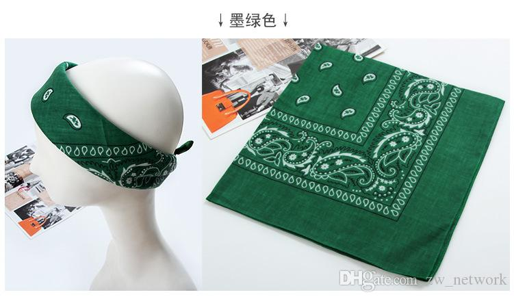 2016 Paisley Cowboy Bandanas Hip hop 100% Cotton Handkerchief Double sided Printed Square Multicolors Muffler for Men Women