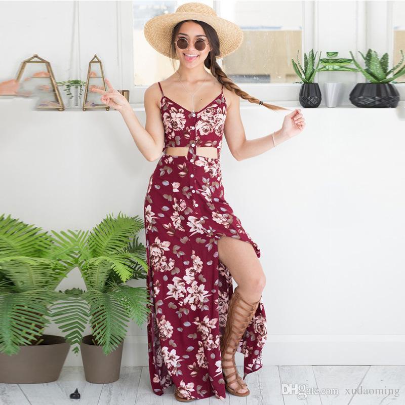 Nova impressão Longuette Sexy respirar V chumbo Maxi Beach Dress mangas compridas Casual trabalho barato Denim para mulheres 2016 Bodycon 95 vestidos