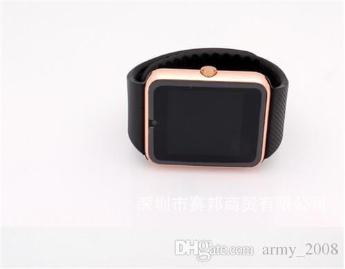 GT08 Smart Watch Compatible Platform IOS Android With Pedometer Camera Monitoring Sleep Sedentary Reminder For iPhone Samsung DHL