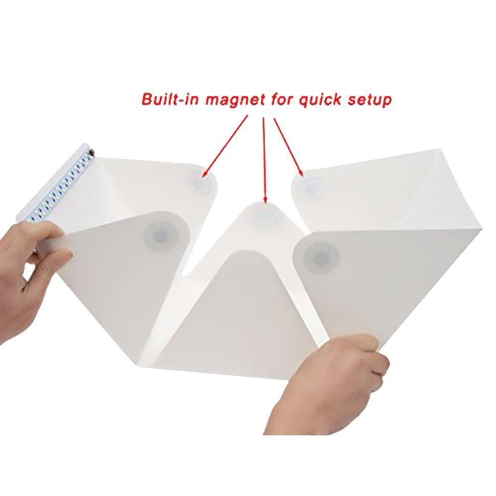 Mini Led Photo Studio Tente Pliable Prise de vue Photographie Éclairage Kit Tente avec Blanc et Noir Portable Photographie Backdrop Box