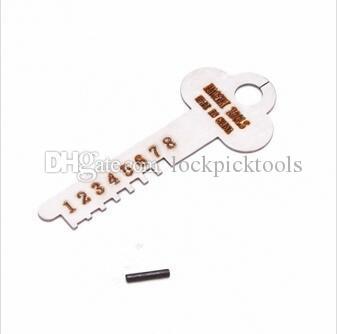 HAOSHI 7 Pins Paslanmaz Çelik Boru Sivil Kilit Seçim Açık Araçları Set Ayarlanabilir Manipülasyon Kilit Pick