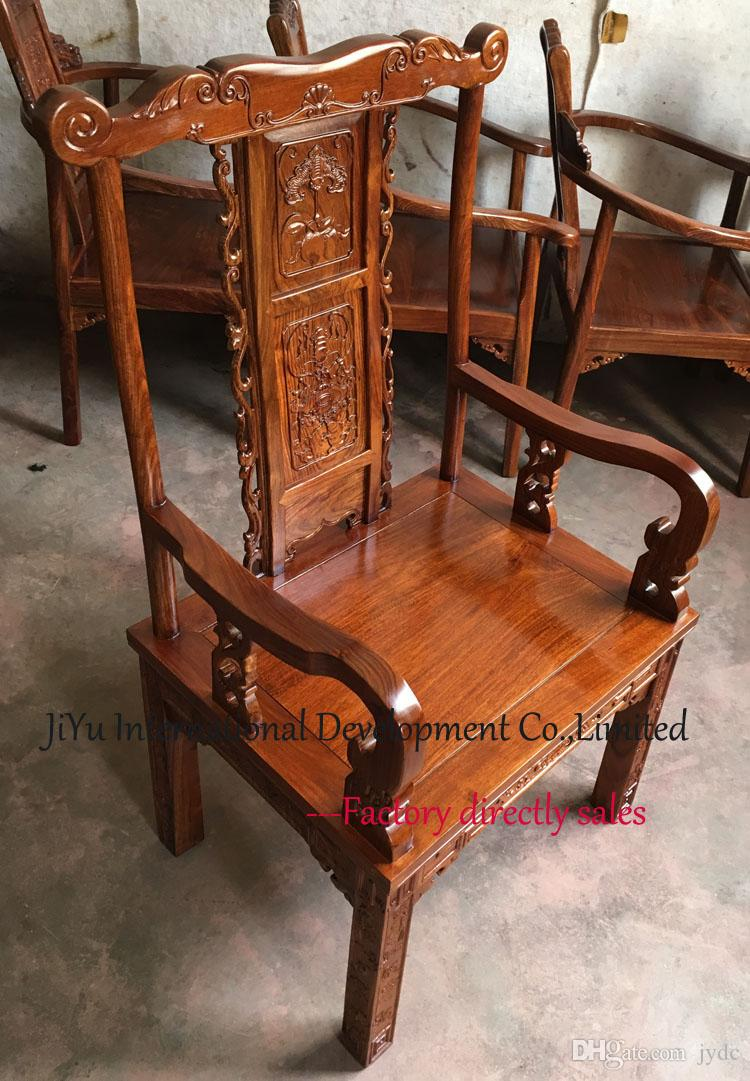 Office or boss chairs Classicial Living room chairs home coffee table armchair luxury wood furniture 100% African Red sandalwood