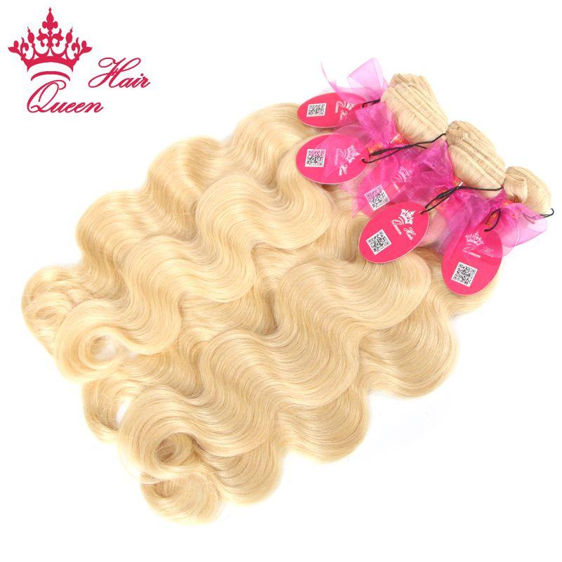 Rainha produtos para o Cabelo cabelo humano Tecer Cabelo Loiro Europeu muito 613 # hot selling12-24inch DHL Transporte Rápido
