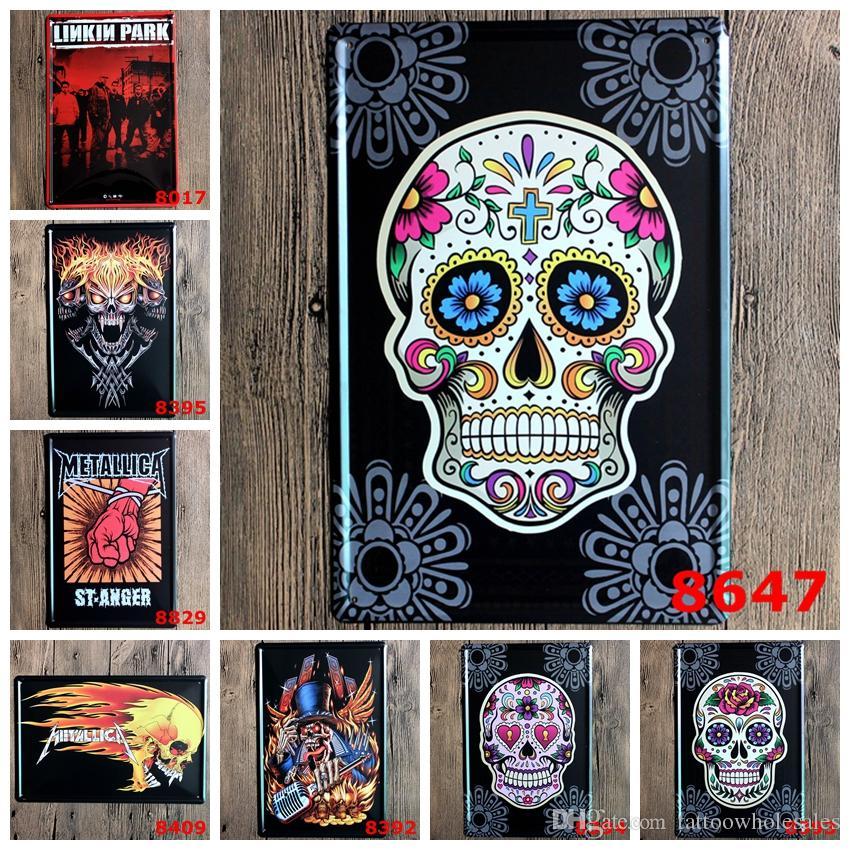 Skull Totem Design Retro Coffee Shop Bar Restaurant Wall Art