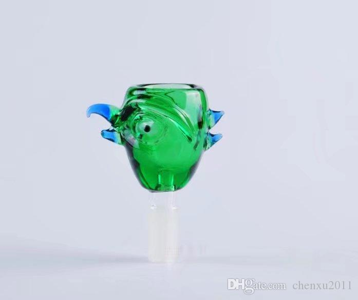 Green bird head glassware , Wholesale Glass bongs Oil Burner Glass Pipes Waters Pipe Oil Rigs Smoking Free Shipping