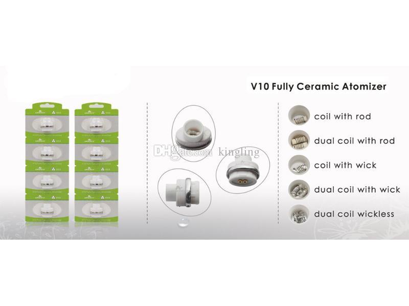 Wax ceramic chip plate coils v10 2.0 for micro g dry herbal vaporizers pen Wax elip atomizers e-cigarette vaporizer pen Coils