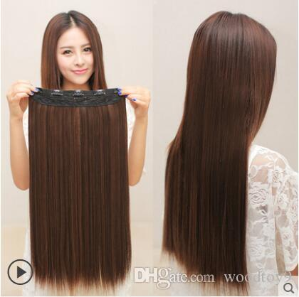 2018 clip in hair extensions 24inch 60cm 160g 50cm 150g 5clips see larger image pmusecretfo Gallery