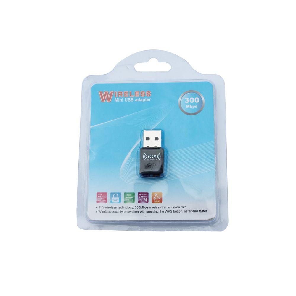 Nueva alta velocidad 2016 Mini Wireless 11N 300M USB LAN Card con antena interna WiFi Adapter Nano Card Win7 8