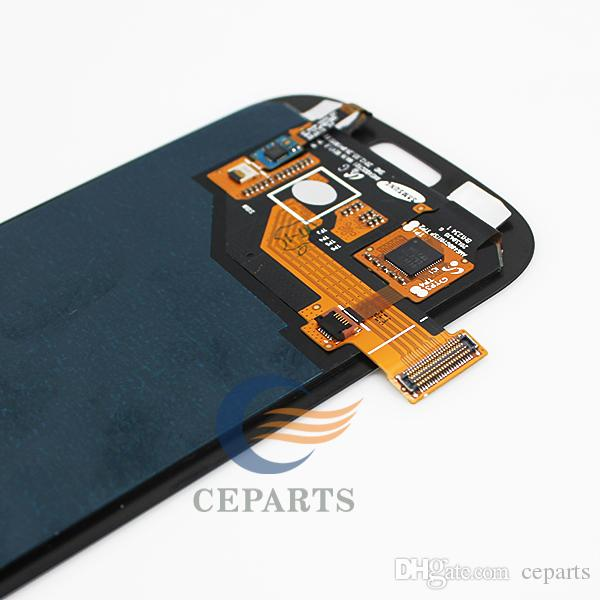 For Samsung Galaxy S3 I9300 I9305 T999 i535 I747 Lcd Digitizer Display Screen Assembly Grey or white with Frame Fast Shipping