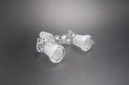 14.5mm et 18.8mm adaptateur en verre double bol adaptateur deux tailles Wishbone verre splitter adaptateur givré pour les options
