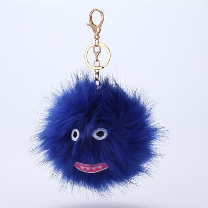 2019 Hip Hop Style Fluffy Genuine Raccoon Fur Pom Pom Keychain Fur Ball  Monster Bag Charm Women Plush Bag Accessories Key Chains Key Ring From  Kencx cd04e515e