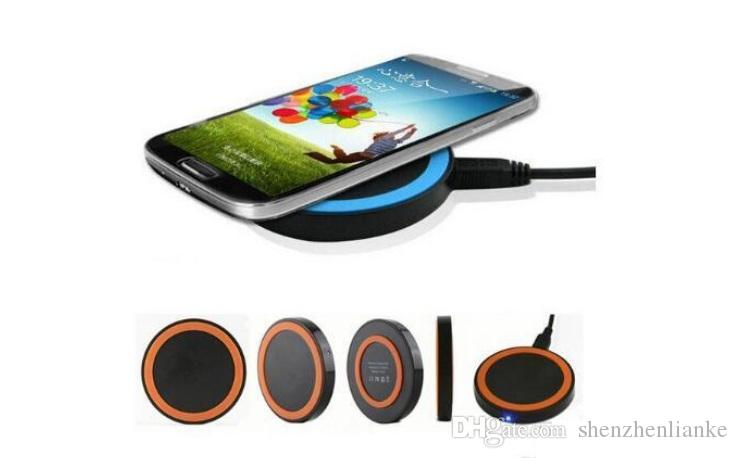 iphone8 plus S8 S7 Qi Wireless Charger Cell phone Mini Charge Pad For Qi-abled device Samsung nokia htc LG cellphone with retail package