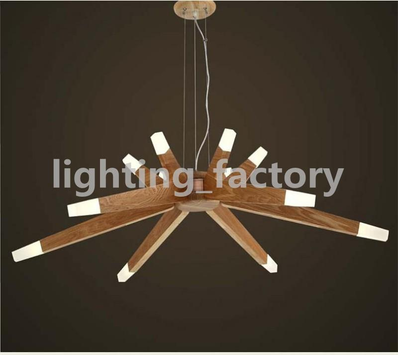 Moderne Kunst kurze Agnes Kronleuchter Zweig Agnes Pendelleuchten China Ash Holz LED Sternenhimmel Leuchte