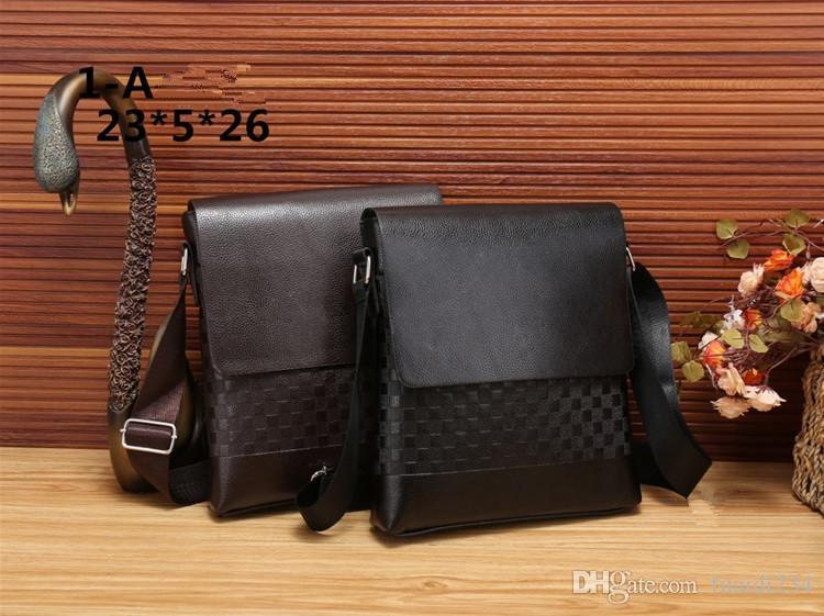 a7a615e783 Men's Vertical PU leather bags Men Messenger bag Mens Business Handbag  Briefcase designer Crossbody bag Shoulder bags G105