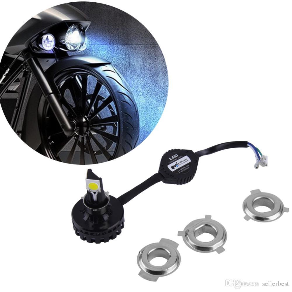 M5 2000 LUMENS H4 LED Farol Da Motocicleta Lâmpada 6000 K 1650LM 15 W Hi / Lo Feixe de 10 W Kit de Conversão de Feixe Baixo DC 12 V 24 V 6-36 V H6 Farol