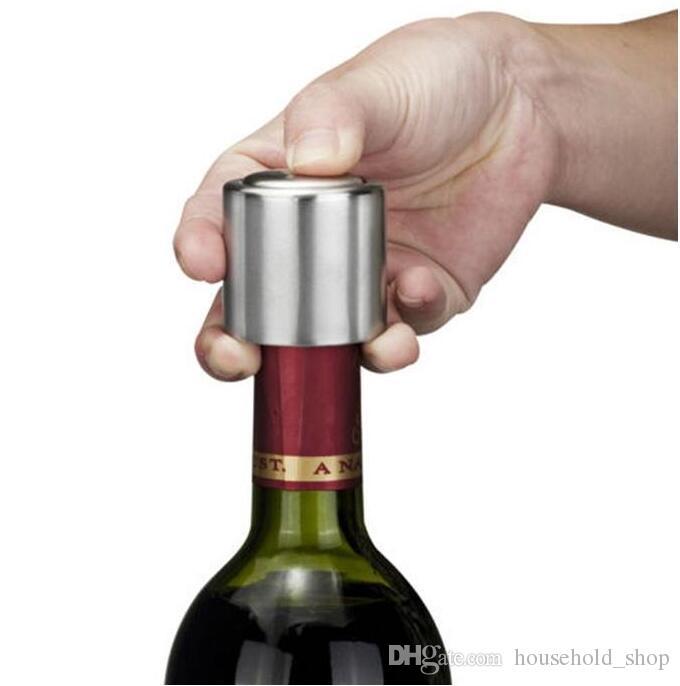 Tampas De Rolha De Vácuo Selado Para O Vinho Tinto Fresco-manutenção de armazenamento Tampa De Garrafa De Champanhe Garrafa Do Obturador Pressionando tipo Cap Livre DHL