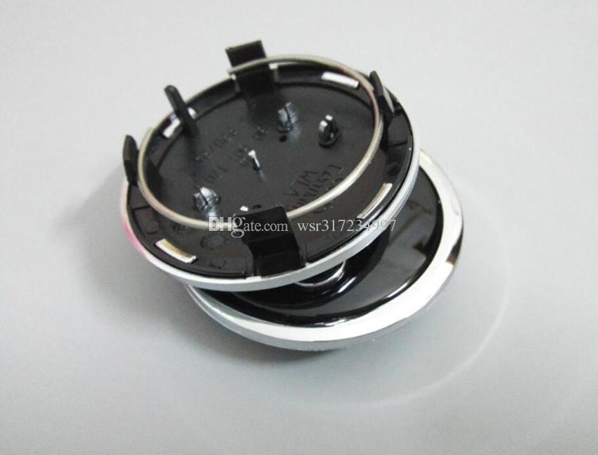 / 69mm gris / noir enjoliveur de centre de roue couvercle emblème de voiture emblème pour audi A4 A6 RS6 logo alliage badge, 4b0601170a, voiture st