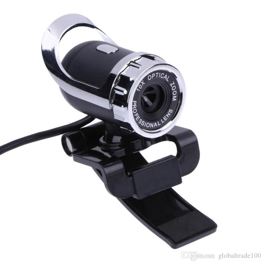 Webcam USB 12 Megapixel 360 gradi USB 12 M HD Camera Web Cam Clip-on Videocamera Web digitale con microfono MIC computer PC Laptop