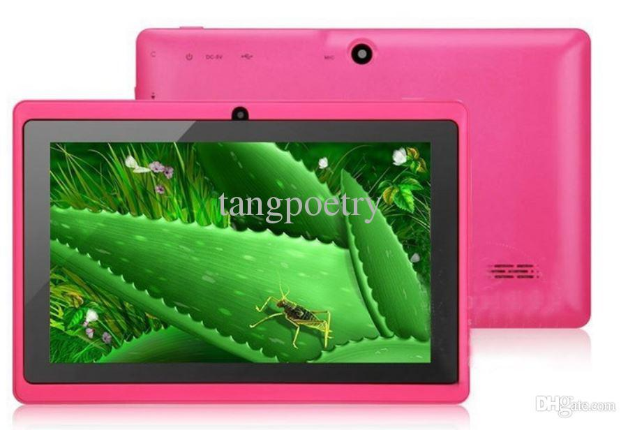 7inch 7 Inch A33 Quad Core Q88 Tablet Allwinner Android 4.4 KitKat Capacitive 1.5GHz DDR3 512MB RAM 8GB ROM Dual Camera Flashlight A33 MQ100