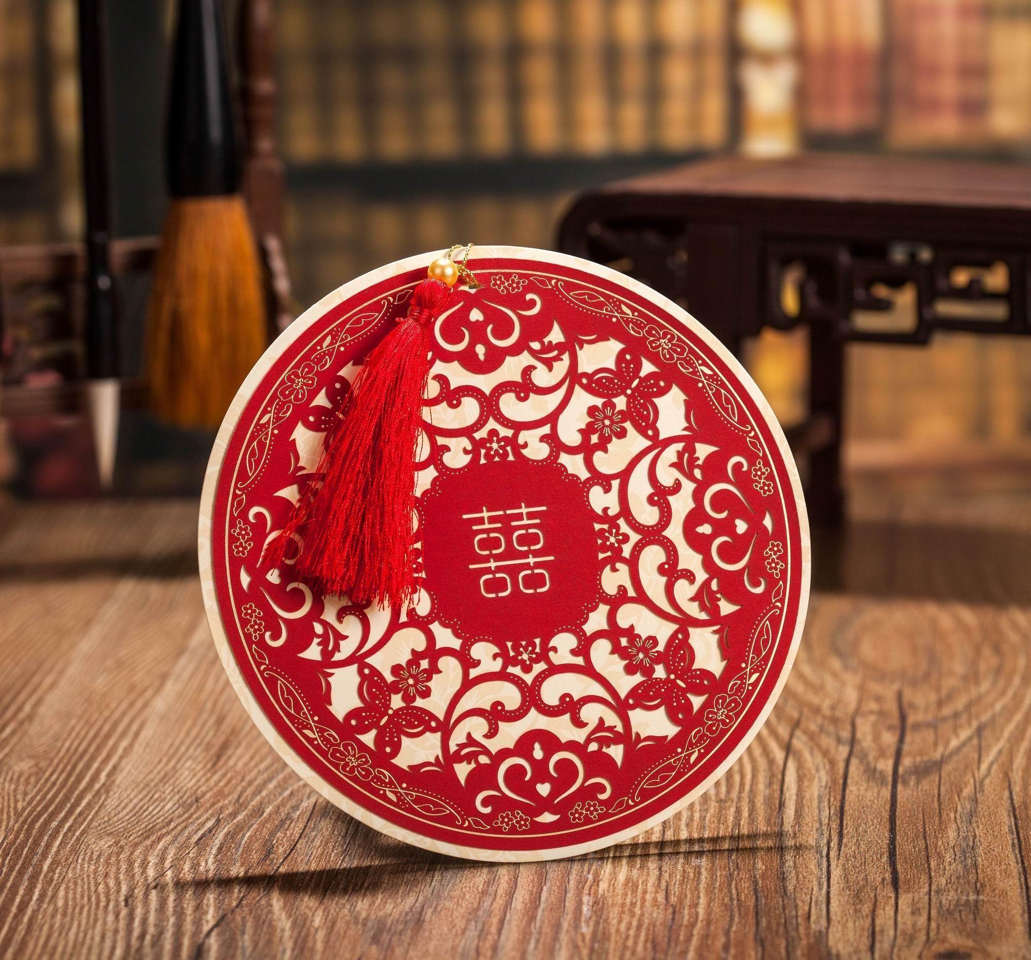 2015 Wedding Invitations Laser Cut Wedding Invitation Cards Tassels ...