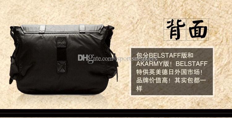 2016BELSTAFF AKARMY men canvas bags shoulder diagonal retro messenger bag business travel bag portable briefcase 580 black