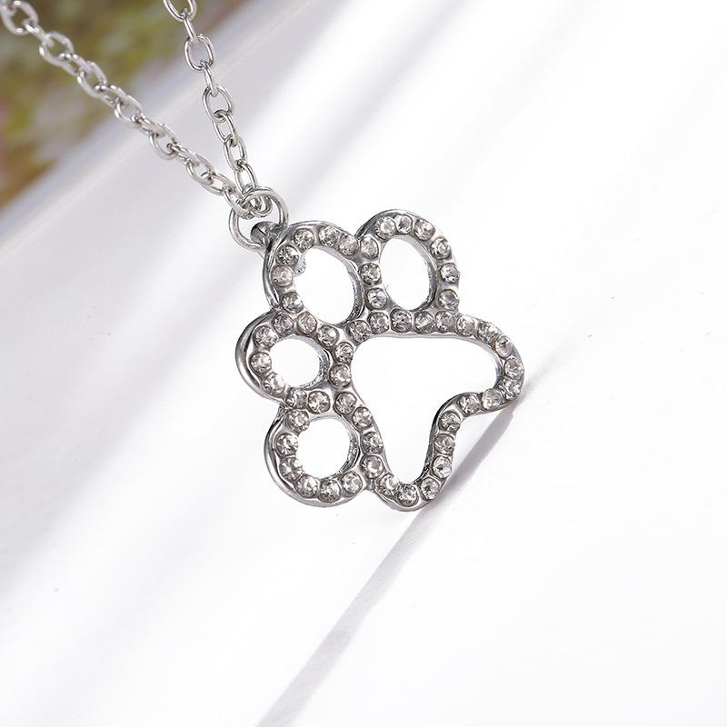 Wholesale creative bear claw studded with diamond pendants pet wholesale creative bear claw studded with diamond pendants pet necklace hot jewelry necklace factory direct wholesale silver pendant necklaces ruby mozeypictures Choice Image