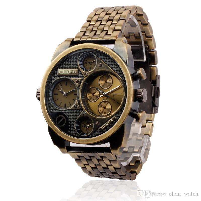 8d5f66b1ce5 2016 New Oulm Luxury Brand Men Full Steel Watch Golden Big Size Antique  Male Casual Watches Military Wristwatch Relogio Masculino Buy A Watch  Online Watch ...