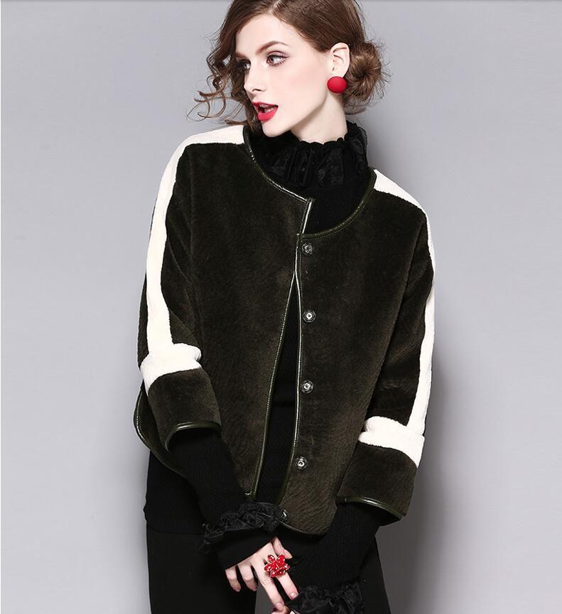 c39825a84587 New Autumn Winter Style Women s Fashion Imitated Cashmere Coats ...
