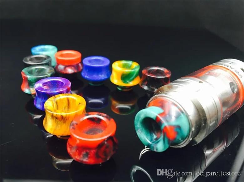 SMOK TFV8 Baby Drip Tip punte a goccia in resina epossidica SMOK TFV8 Baby Pretty pattern punte a goccia 510 bocchino DHL Free Ship