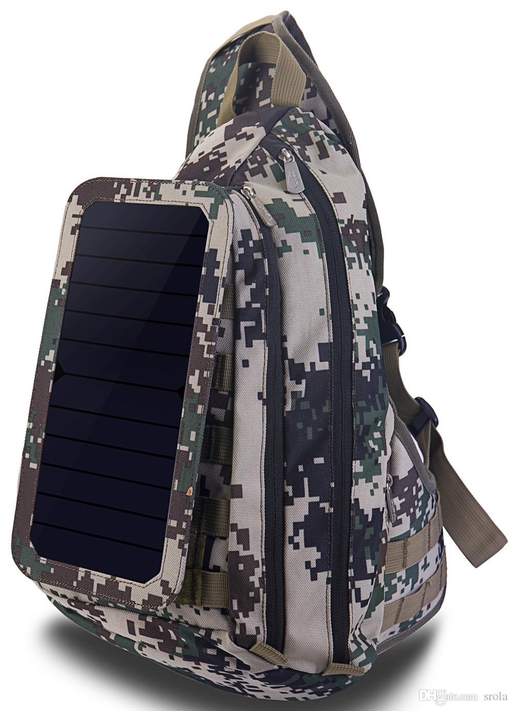 Brand New Men's Solar Camouflage Sling Bag movable Solar Charger Plate Hot Sale Fashion Shoulder Bag Sturdy Brand Sports Bag for Outdoor
