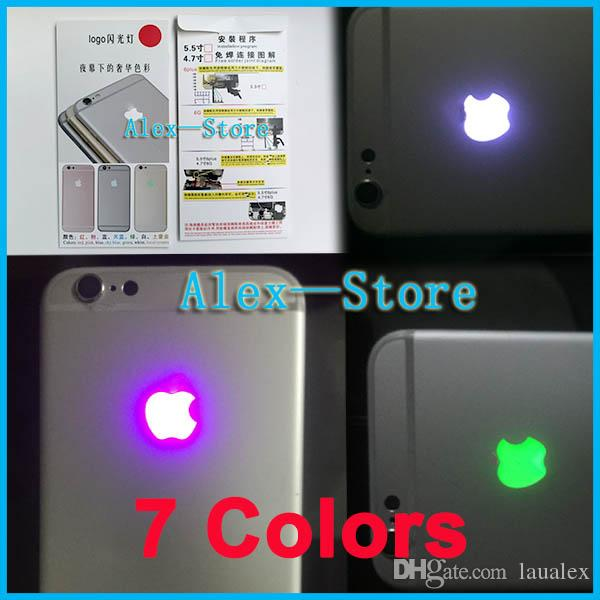 huge selection of eae4f 64cc1 LED Intelligent Night Cool Light Glow Shine Logo For iPhone 6S plus 535inch  Glowing Logo Mod Kit Replacement Free Shipping