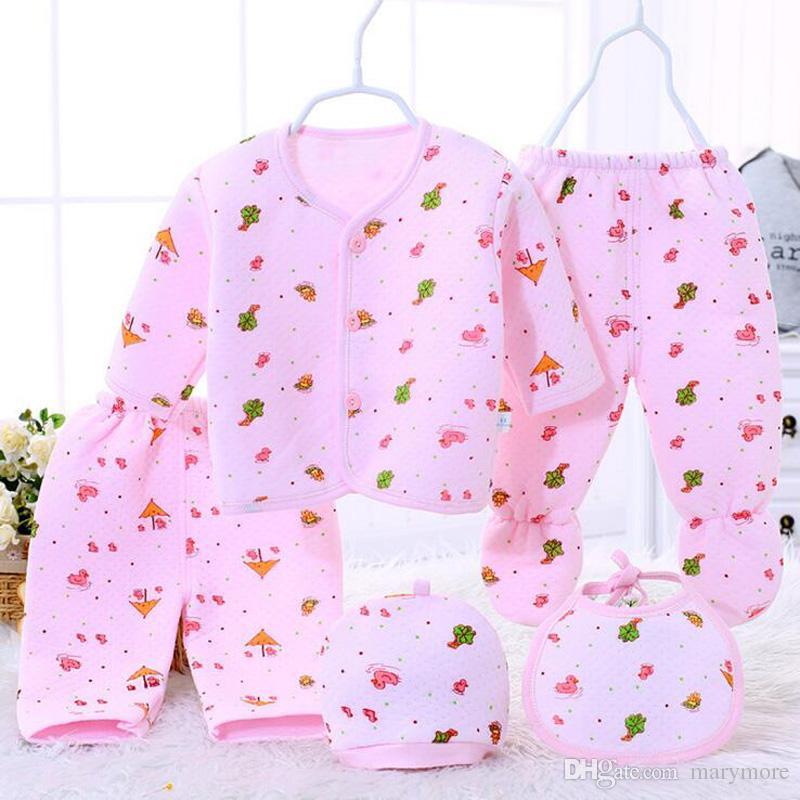 5 шт./компл. Весна новорожденный комплект одежды детские мальчики девочки хлопок Детские леггинсы брюки рождественские наряды комплект одежды