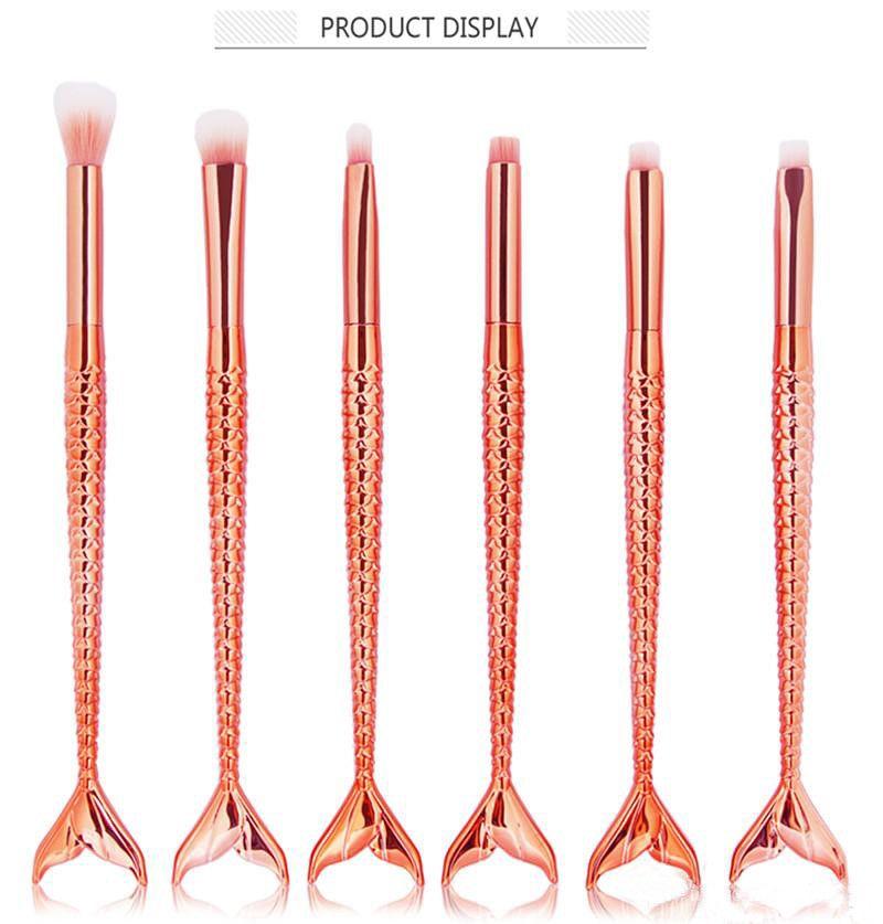 Nixe Make-up Pinsel 6 teile / satz Lidschatten Pinsel Schönheit Regenbogen Bunte Kosmetik Pinsel Sets Make-Up-Tool