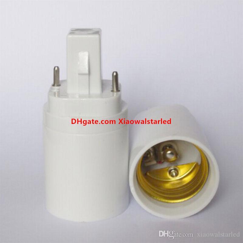 PBT G24Q G24 to E27 Lamp Holder Converter for LED Halogen CFL Light Bulb Lamp Adapter E27 to G24