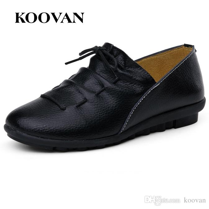 5a9fab3fa54 Work Shoe Fashion Women Shoes Flat Shoe Loafer Koovan 2017 New Mother Shoes  Shallow Mouth Five Color Pointed Toes W241 Suede Shoes Pumps Shoes From  Koovan